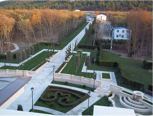 jardin palace Vladimir Poutine